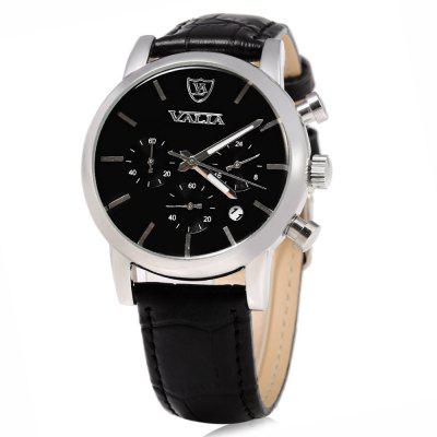 VALIA Business Style Silver Case Men Quartz Watch