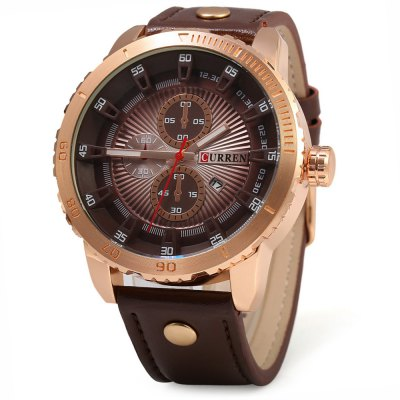 CURREN 8206 Business Style Big Dial Men Quartz Watch