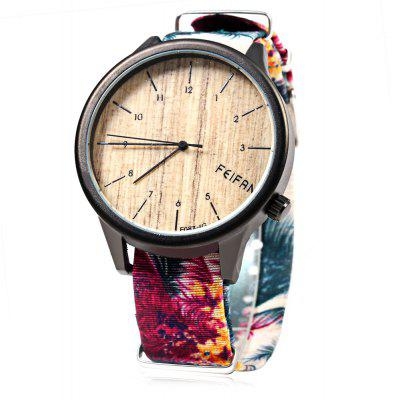 FeiFan F087 - 1 Fashionable Scenery Pattern Dial Lady Quartz Watch