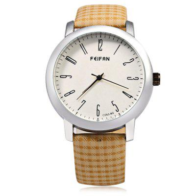 FeiFan C053 - 8 Business Style Grid Pattern Strap Men Quartz WatchMens Watches<br>FeiFan C053 - 8 Business Style Grid Pattern Strap Men Quartz Watch<br><br>Band material: Leather<br>Band size: 24.5 x 2 cm / 9.65 x 0.79 inches<br>Brand: FEIFAN<br>Case material: Alloy<br>Clasp type: Pin buckle<br>Dial size: 4 x 4 x 1 cm / 1.57 x 1.57 x 0.39 inches<br>Display type: Analog<br>Movement type: Quartz watch<br>Package Contents: 1 x FeiFan C053-8 Business Style Men Quartz Watch<br>Package size (L x W x H): 25.50 x 5.00 x 2.00 cm / 10.04 x 1.97 x 0.79 inches<br>Package weight: 0.072 kg<br>Product size (L x W x H): 24.50 x 4.00 x 1.00 cm / 9.65 x 1.57 x 0.39 inches<br>Product weight: 0.039 kg<br>Shape of the dial: Round<br>Watch color: Flax, Coffee, Beige, Black<br>Watch style: Business<br>Watches categories: Male table<br>Wearable length: 18 - 22.2 cm / 7.09 - 8.66 inches