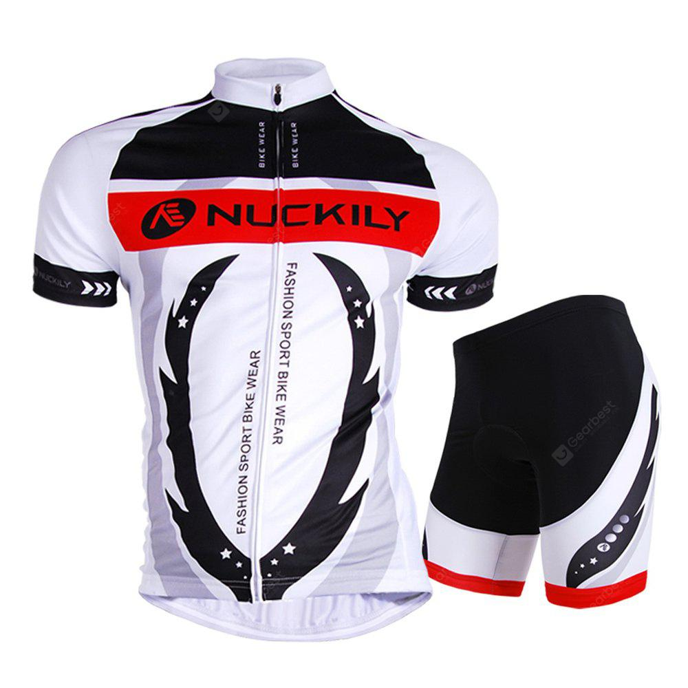NUCKILY AJ208 BK267 Men Polyester Bicycle Cycling Suit