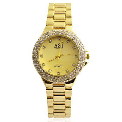 ASJ b059 Diamond Bezel Female Quartz Watch