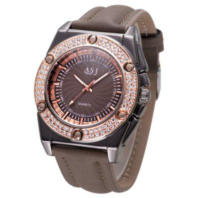 ASJ b043 Diamond Bezel Female Quartz Watch