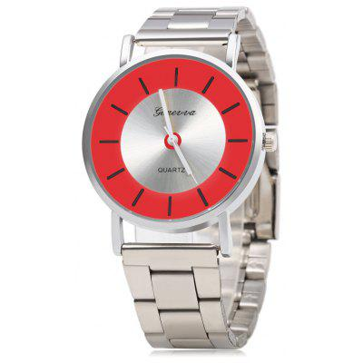 GENEVA 458 Business Style Steel Strap Lady Quartz Watch