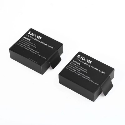 Original SJCAM 2PCS 3.7V 900mAh Backup Battery