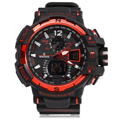 HENGZHENG HZ490 3ATM Men LED Sports WatchLED Watches<br>HENGZHENG HZ490 3ATM Men LED Sports Watch<br><br>Available Color: Black,Blue,Gold,Red,Silver<br>Band material: Rubber<br>Band size: 24.5 x 2.5 cm / 9.65 x 0.98 inches<br>Case material: Alloy<br>Clasp type: Pin buckle<br>Dial size: 5.3 x 5.3 x 1.5 cm / 2.09 x 2.09 x 0.59 inches<br>Display type: Analog<br>Hour formats: 12 Hour<br>Movement type: Quartz watch<br>Package Contents: 1 x LED Sports Watch<br>Package size (L x W x H): 25.50 x 6.30 x 2.50 cm / 10.04 x 2.48 x 0.98 inches<br>Package weight: 0.0950 kg<br>People: Male table<br>Product size (L x W x H): 24.50 x 5.30 x 1.50 cm / 9.65 x 2.09 x 0.59 inches<br>Product weight: 0.0560 kg<br>Shape of the dial: Round<br>Special features: Date, Alarm Clock, Stopwatch, Day<br>Watch style: LED, Fashion, Casual<br>Water resistance : 30 meters<br>Wearable length: 15 - 22 cm / 5.9 - 8.66 inches