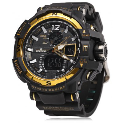 HENGZHENG HZ490 3ATM Men LED Reloj deportivo