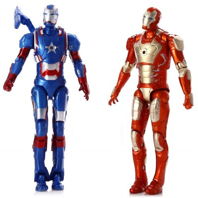 PVC Movie Action Figure Movable Joint Cartoon Decor with Chest Light - 2Pcs / Set