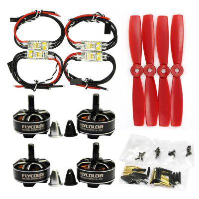 Flycolor RAPTOR 4 x BLHeli 20A ESC + 4 x MT2204 2300KV Motor / 5045 Propeller Set Fitting for 170 - 330 DIY Multirotor Model