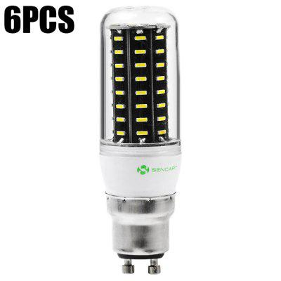 6PCS Sencart 72 x SMD4014 9W 900LM GU10 LED Corn Light