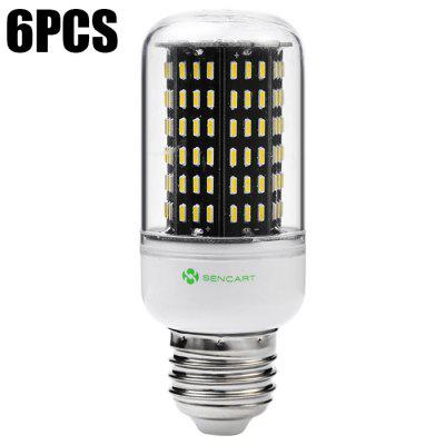 6 x Sencart E27 12W 1200LM 138 SMD4014 LED Corn Light