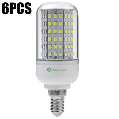 6pcs Sencart 126 x SMD2835 1350Lm 14W E14 LED Corn Light
