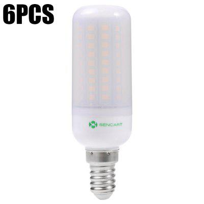 6pcs Sencart 102 x SMD2835 1200LM E14 12W Frosted LED Corn Bulb