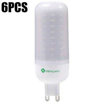 6PCS Sencart 72 x SMD4014 G9 9W 900LM Frosted LED Corn Bulb