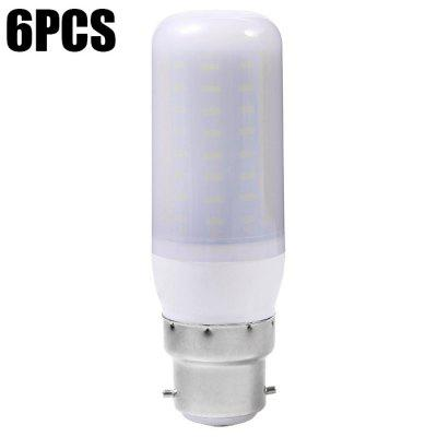 6PCS Sencart 72 x SMD4014 B22 9W 900LM Frosted LED Corn Light