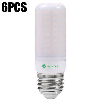 6PCS Sencart E27 72 x SMD5730 12W 1200LM Frosted LED Corn Bulb