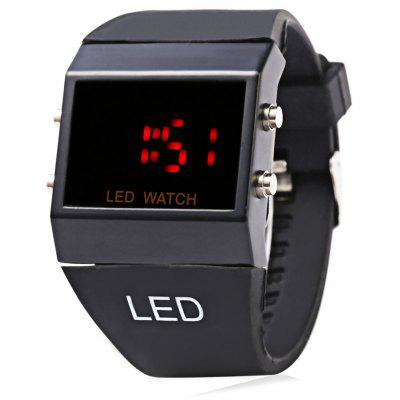 Casual Style Male LED Digital Watch with Soft Plastic Rubber Band