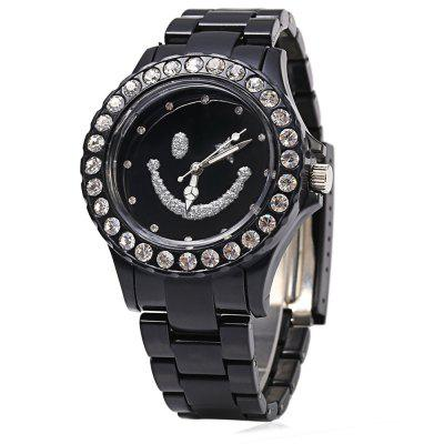 Casual Style Smile Pattern Dial Ultralight Lady Quartz Watch