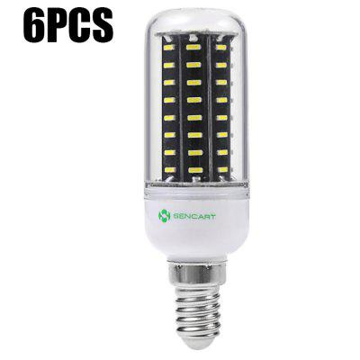 6PCS Sencart 72 x SMD4014 E14 9W 900LM LED Corn Light