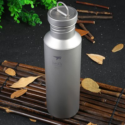 Keith Ti3032 700mL Titanium Sport Bottle for Outdoor