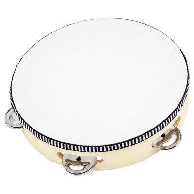 8 inch Hand Beat Tambourine Drum Bell Kid Toy Gift for Music Education