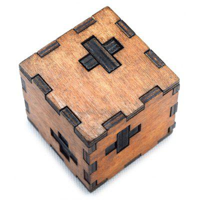 Classic Switzerland Cube Style Unlock Puzzle Toy Wooden Three-dimensional Jigsaw