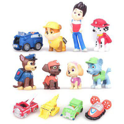 Plastic Action Figure Anime Character Model Home Office Decor - 12Pcs / Set