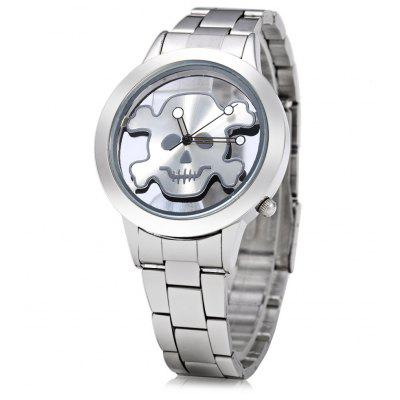 Skull Bone Pattern Lady Quartz Watch with Hollow-out Dial