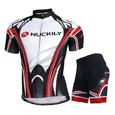 NUCKILY MA008 MB008 Men Short Sleeve Bicycle Cycling Suit