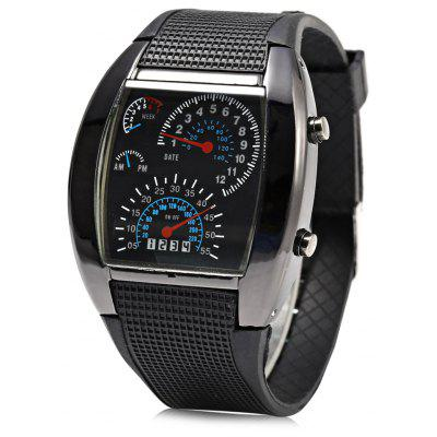 Car Speedometer Shaped Dial Male LED Watch
