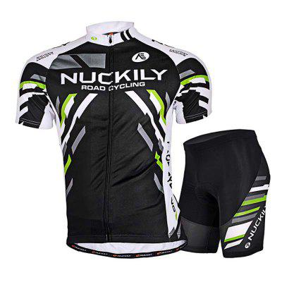 NUCKILY MA004 MB004 Men Short Sleeve Bicycle Cycling Suit