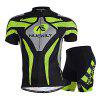NUCKILY MA005 MB005 Men Bicycle Cycling Suit - GREEN