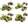 SDL 2014A - 2 30KM/H 2.4GHz KIT RC Car Off Road Vehicle Drift Assembly Toy for Children - COLORMIX
