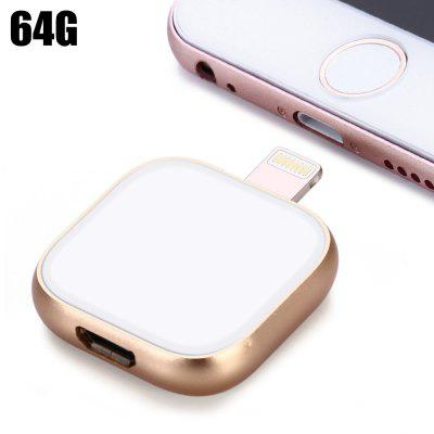 64GB 2 in 1 OTG 8Pin Flash Drive + USB 3.0 Cable