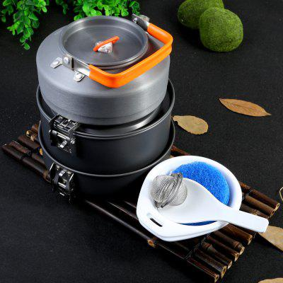 Buy GRAY Fire Maple FEAST2 Aluminium Alloy Eight-piece Cookware Set for $51.24 in GearBest store