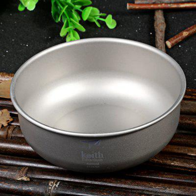 Keith KT333 400mL Lightweight Titanium Bowl