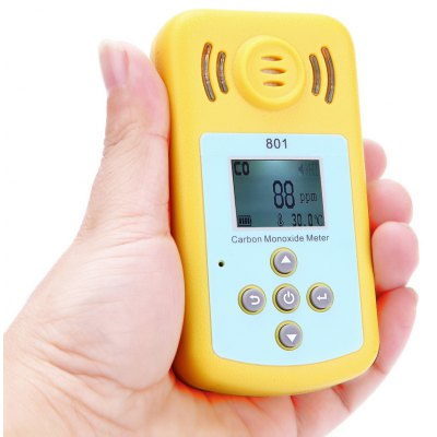 KXL - 801 Handheld Carbon Monoxide Meter Sound Light Vibration Alarm Gas Leak Tester Gauge 0 - 2000PPM