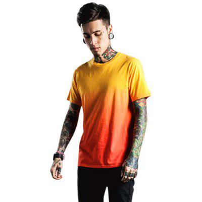 Summer Men Short Sleeve Pure Cotton Round Neck T-shirts