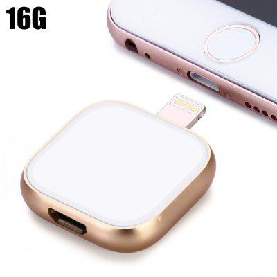 16GB 2 in 1 OTG 8Pin Flash Drive + USB 3.0 Cable