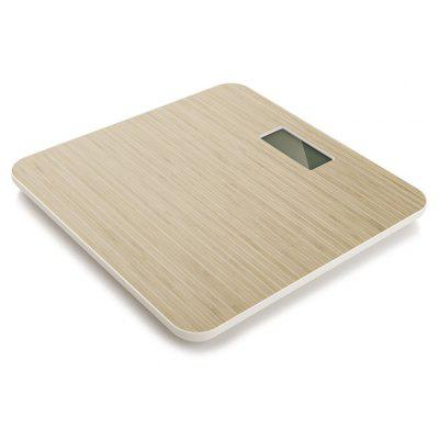 YESHM YHB1447 Wooden Grain Shape Body Fat Scales