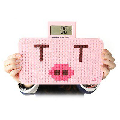 Buy PINK YESHM YHB1305 DIY Puzzle Shape Body Fat Scales for $30.23 in GearBest store