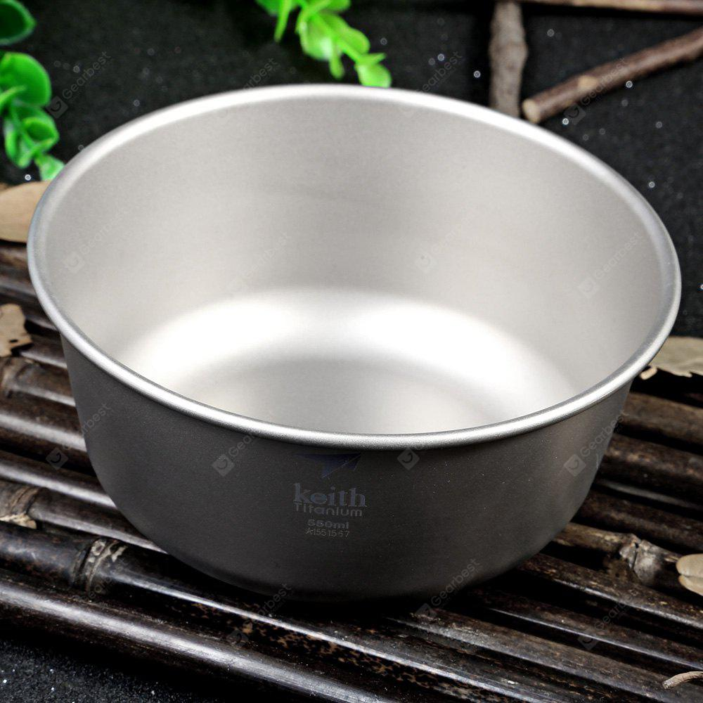 Keith KT321 550mL Strong Titanium Bowl for Outdoor