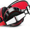 KOTION EACH GS700 Lightweight Gaming Headsets with LED Light - RED