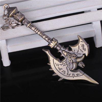 Keyring Weapon Model Pendant Decoration Ax Style Alloy Key Chain - 4.7 inch