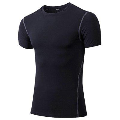 Yuerlian Men Quick-drying Exercising Compression T-shirt