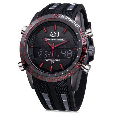 ASJ b067 Dual Movt Men Analog-digital Display Watch