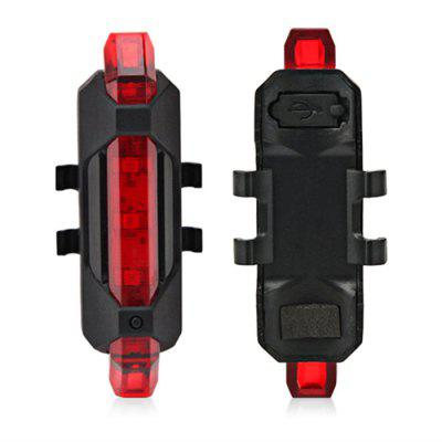 Gearbest Water Resistant USB Rechargeable LED Bike Tail Light - RED