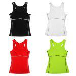 Yuerlian Female Quick-drying Exercising Compression Vest - WHITE