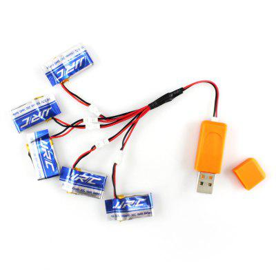 Original JJRC Battery 5pcs and Charger Set A RC Quadcopter Accessory for H30CRC Quadcopter Parts<br>Original JJRC Battery 5pcs and Charger Set A RC Quadcopter Accessory for H30C<br><br>Brand: JJRC<br>Compatible with: JJRC H30C<br>Package Contents: 5 x Battery, 1 x USB Port, 1 x Charger Connecting Cable<br>Package size (L x W x H): 2.00 x 5.00 x 15.00 cm / 0.79 x 1.97 x 5.91 inches<br>Package weight: 0.150 kg<br>Type: Batteries, Charger Set