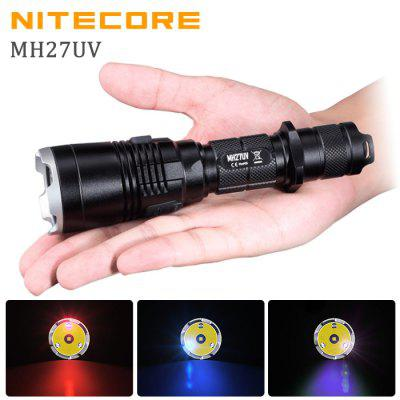 Nitecore MH27UV Cree XPL HI V3 1000Lm Tactical  LED UV Flashlight